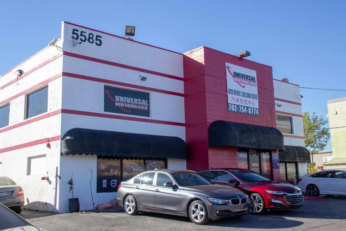 Uniersal motor shop front - Best auto repair shops Las Vegas NV